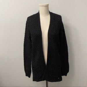 Mexx Wool Blend Black Knit Cardigan